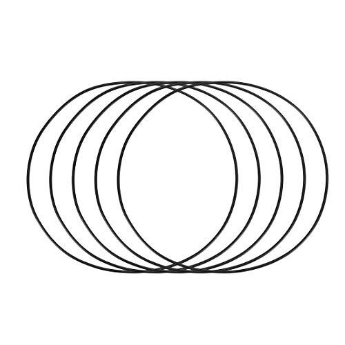 Preisvergleich Produktbild 145mm x 2mm Ersatz Gummi Schwarz Öldichtung Filter Ringe Reiniger 5 Stück DE de