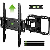USX MOUNT Full Motion TV Wall Mount with Height Setting for Most 32-65 inch Flat Screen/LED/4K TVs, Swivel/Tilt TV Mount Bracket Max VESA 400x400mm, Holds up to 110lbs, for 16