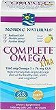 Nordic Naturals Complete Omega Xtra - High Potency Omega 3-6-9 Complex, Lemon Flavor, 60 Count