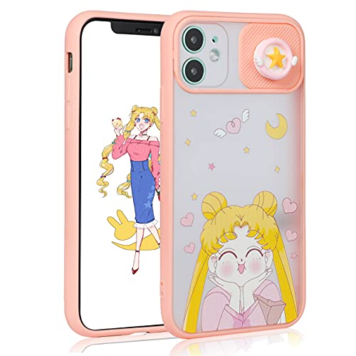 oqpa for iPhone 12/12 Pro Case Kawaii Cartoon Character Funny Cute Fun TPU Design Cover for Girls Kids Women Teen, Fashion Cool Unique Aesthetic Anime Smile Girl Cases (for iPhone 12/12 Pro 6.1')
