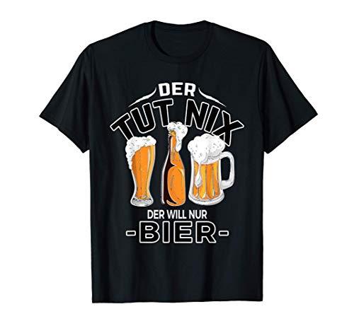 Vatertag der tut nix der will nur Bier Suff Frau Schnaps T-Shirt