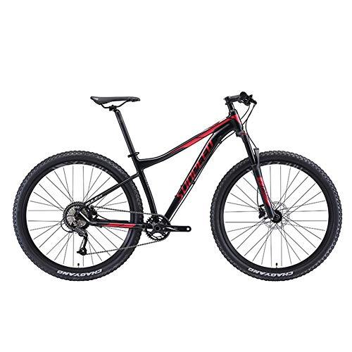 DJYD 9-Speed Mountain Bikes, Alurahmen Männer Fahrrad mit Federung vorne, Unisex Hardtail Mountainbike, All Terrain Mountain Bike, Blau, 27.5Inch FDWFN (Color : Red, Size : 27.5Inch)