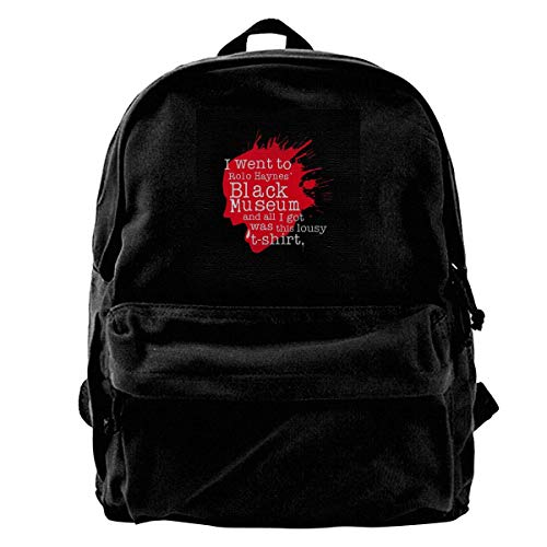 Yuanmeiju Canvas Backpack I Went to The Rolo Haynes Museum Black Mirror Rucksack Gym Hiking Laptop Shoulder Bag Daypack for Men Women