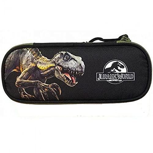 Jurassic World Astuccio Scuola ovale Organizzato cm22x6x9
