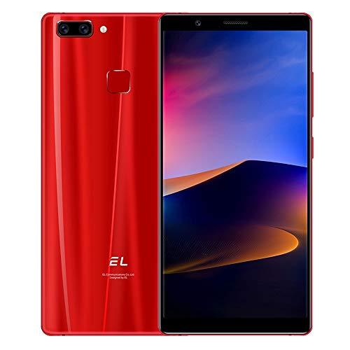 ZYDES Cámaras traseras duales, identificación de Rostro y Huella Digital, 6.0 Pulgadas Android 8.1 MTK6750 Octa Core hasta 1.5GHz, Red: 4G, Dual SIM (Color : Red)