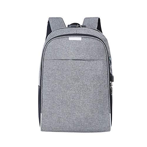 XMYNB Leichte Business-Computer-Tasche Mit Großer Kapazität, Atmungsaktiv, Verschleißfest, Herrenrucksack, Passwortsperre, Diebstahlsicherer Rucksack, Grau, 30 * 13 * 46 cm
