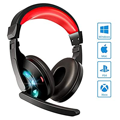 SHENMATE Gaming Headset with Microphone, Noise ...