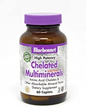 Bluebonnet Nutrition High Potency Chelated Multiminerals (Iron-Free) Caplets, 60 Count