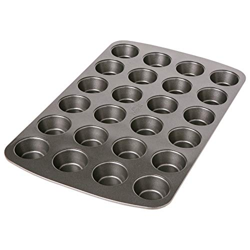Birkmann Easy Baking 881112 Stampo per 24 Mini Muffin, Metallo, Grigio