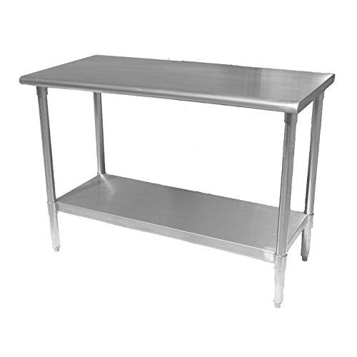 Work Table Food Prep Worktable Restaurant Supply Stainless Steel 14 x 72