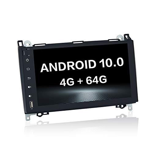 Dasaita 8 'Android 10.0 Single DIN Car Stereo Integrado Bluetooth DSP 4G RAM 64G ROM para Benz ML W164 X164 ML350 ML320 ML280 GL350 GL450 Auto Dab Radio Soporte GPS WiFi USB Carplay Mirror Link