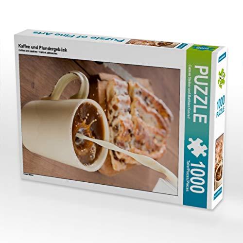 CALVENDO Puzzle Kaffee und Plundergebäck 1000 Teile Lege-Größe 48 x 64 cm Foto-Puzzle Bild von Carmen Steiner