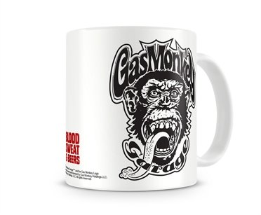 Gas Monkey Garage Taza de café con Licencia Oficial GMG – Blood Sweat & Beer