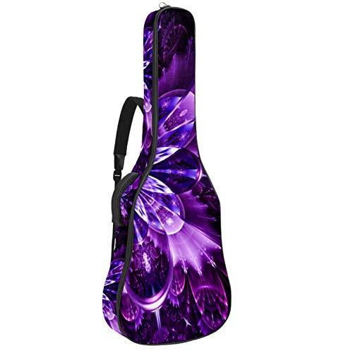 Bolsa de guitarra reforzada con esponja gruesa y extra acolchada para guitarra con 2 bolsillos, para guitarra clásica acústica 40 41 42 pulgadas, color morado fantasía