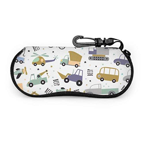Cartoon Animation Retro Spielzeug Traktor Unisex Brillenetui Brillenetui Tasche Light Portable Neopren Reißverschluss Soft Case Sonnenbrille Travel Case