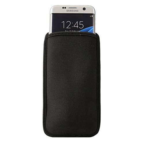 PAN-ES Carcasa de telefono Bolso del teléfono Celular del Neopreno para Samsung Galaxy S9 / S8 / S7 Edge / G935 y S6 Edge / G925, tamaño: 9.0 * 16.5cm Se Utiliza para tu teléfono (Color : Black)