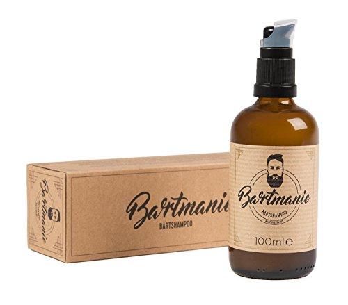 Bartmanie Bartshampoo (100ml) mildes Bartpflegeshampoo, vegane & parabenfreie Bartseife für einen vollen und vitalen Bartwuchs