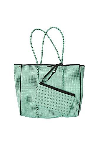 Fashy® Mujer Bolsa de playa con bolsillo interior extraíble de neopreno con pliegue de cierre de impresión y.