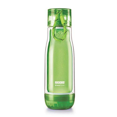 ZOKU(ゾク) コアボトル 475ml グリーン φ7.7xH25cm カラフル おしゃれ 耐熱 耐久 ガラス ホウケイ酸 衛生的 おいしい 日常 39458