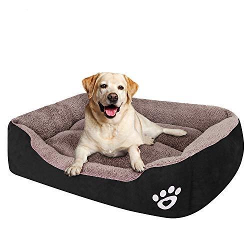 Cama para perro cachorro para perros medianos (XXL-Grande para perros grandes), cama para perros con lavable a máquina, cómoda y segura para perros medianos y grandes o múltiples