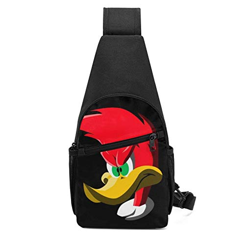 AOOEDM Woody Woodpecker Sling Bag/Crossbody Chest Backpack/Shoulder Bags for Men Women Travel Hiking Cycling Casual Daypack