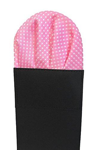 Label-Cravate Pochette-mouchoir costume pliée rose à pois