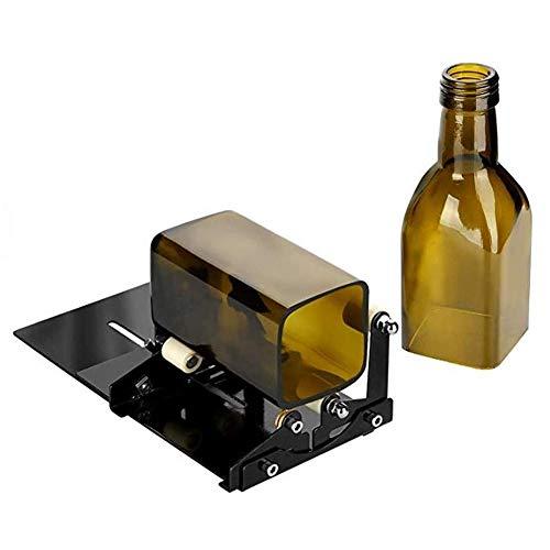 Dpofirs Cortador de Botellas de Vidrio, Kit de Herramientas de Corte de Hierro Inoxidable con 3 Ruedas de Corte para máquina cortadora de Botellas cuadradas Redondas (Versión Mejorada)