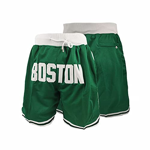 G GIAROCK Basketball Fans Gift Men's Active Athletic Performance Mesh Quick DrySports Shorts with Pockets Green Medium