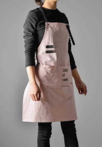 Oiuytghjkl Brief Nordic Wind zeemeermin katoen linnen keuken schort voor dames jurk bloem boutique blouse kapper slabbetje logo gepersonaliseerd