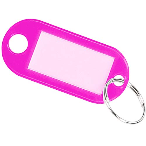 15 x key rings, key tags can be written on, pink