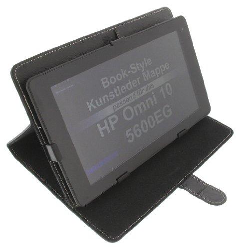 foto-kontor Tasche für HP Omni 10 5600EG Book-Style Schutz Hülle Schwarz
