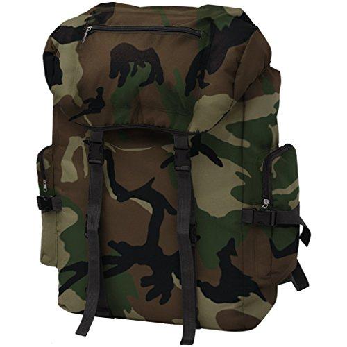 Festnight 65 L Armeerucksack Freizeitrucksack Backsack Rucksack aus 600D Polyester für Reisen Camping Wandern usw. - Tarnfarbe