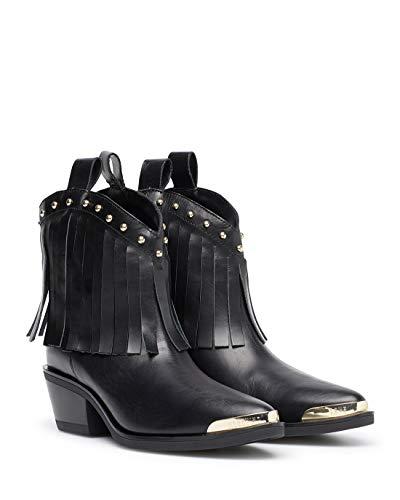 Love Moschino Bottes Femmes JA21455 Tex VIT Nero Cuir Noir