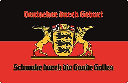 Blechschild 20x30cm gewölbt Schwaben Schwabe Flagge Wappen Deko Geschenk Schild