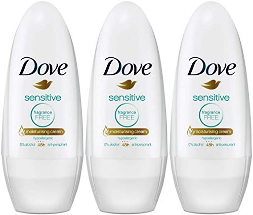 Dove Pure, Strong Antiperspirant Roll On Deodorant Stick, Unisex For Men And Women, Clean And Fresh Fragrance, Long Lasting Anti Sweat And Body Odour Protection, Large Pack (3 x 50 ml)