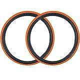 SE Bikes Cub 20 x 2.0 BMX OEM Replacement All Terrain Dirt Street Wire Bead Two Bike Tire Pair (Orange)