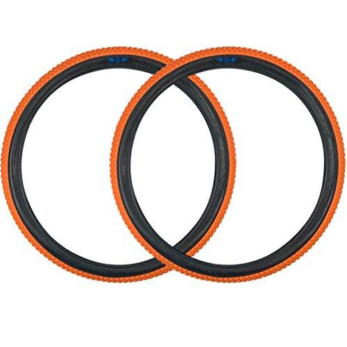 SE Bikes Cub 26 x 2.0 BMX Replacement OEM Clincher Dirt All Terrain Street Wire Bead Two Bike Tire Pair (Orange)