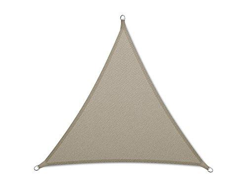 casa pura Sun Shade Sail | Sun Shades for Patio and Garden | Triangle | Multiple Sizes | Beige - 16' x 16' x 16'