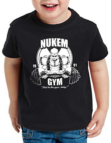 style3 Nuke Gym Camiseta para Niños T-Shirt Ego Shooter Dos Doom Baby, Color:Negro, Talla:164