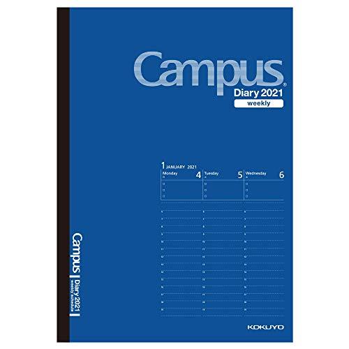 コクヨ キャンパスダイアリー 手帳 2021年 A5 ウィークリー コバルトブルー ニ-CWVCB-A5-21 2021年 1月始まり