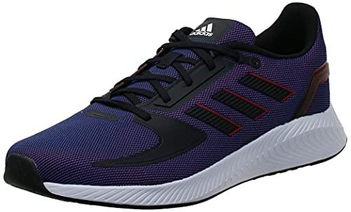 adidas Męskie buty do biegania Runfalcon 2.0, 12,5 UK, Północ Flash Core czarny szkarłatny - 43.5 EU