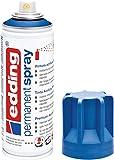 edding 5200-903 - Spray de pintura acrílica de 200 ml, secado rápido sin burbujas, color azul genciana mate RAL 5010