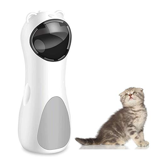 Gexmil Cat Laser Toy Automatic Interactive Toys for Cats Kitten Dogs USB Charging amp Battery Powered 5 Random Pattern Fast Slow Light Flashing Model