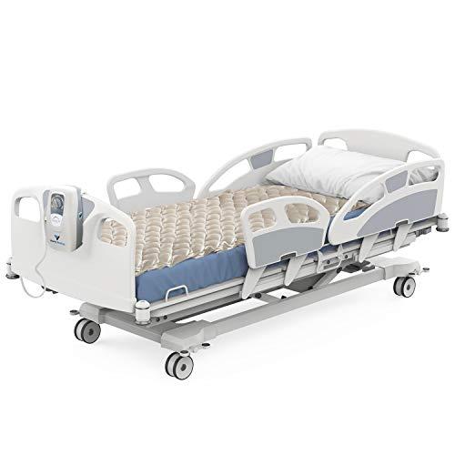 "Vaunn Medical Cloud Air Whisper Quiet Alternating Air Pressure Mattress Topper with Pump Twin Size 36"" x 78"" x 3"""