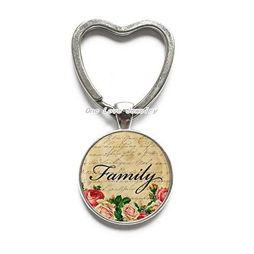 Llavero de la familia, llavero de la familia para la tía, llavero del encanto de la familia, llavero simple, joyería de cristal, TAP388