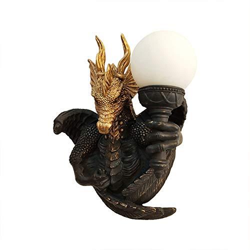 Dragón Lámpara De Pared, Lámpara De Pared De La Resina En El Hotel Led Corredor, Animal Simple Y Moderno