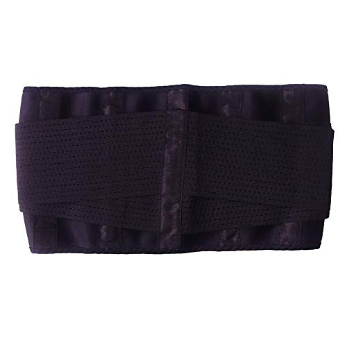 AMY-ZW Waist Trainer Belt Accelerates Weight Loss Fat Burning Back Support Adjustable Best Abdominal Trainer Promote Sweat Slim Trimmer Belt for Women Men Fitness (Color : Black, Size : XXL)