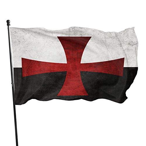 Zwarte en witte vlag Rode IJzeren Kruis Tuinvlaggen Duurzame Fade Resistant Decoratieve Vlaggen Premium Kwaliteit Officiële Vlag Outdoor Banner 2020 voor Alle seizoenen en vakanties- 3X 5 Ft