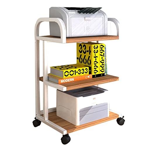 Printer shelf Estante para Impresora, Estante Multicapa, Soporte para fotocopiadora, carros de Almacenamiento móviles, Organizador de Archivos de Oficina Que soporta 80 Libras