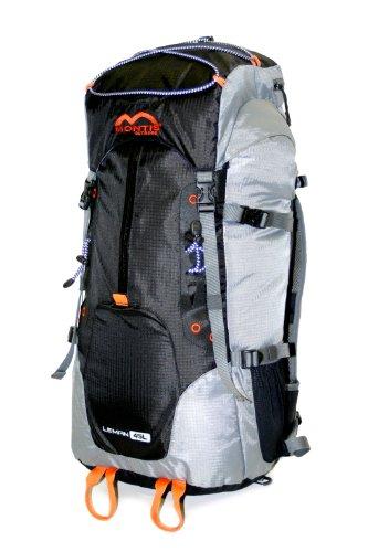 MONTIS Leman 45 Unisex Trekking-Rucksack, Wander-Rucksack & Reise-Rucksack in einem, ermöglicht Dank Regenschutz auch Bike- & Campingtouren, im modernen Look mit viel Extras & Belüftungssystem